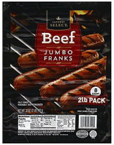 Picture of Signature Select Franks Uncured Beef Jumbo