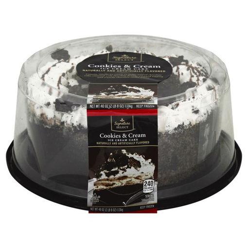 Picture of Signature SELECT Ice Cream Cake Cookies & Cream 8 Inch