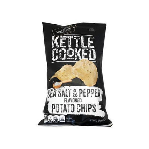 Picture of Signature SELECT Potato Chips Kettle Cooked Salt & Pepper