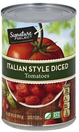 Picture of Signature SELECT Tomatoes Diced Italian Style