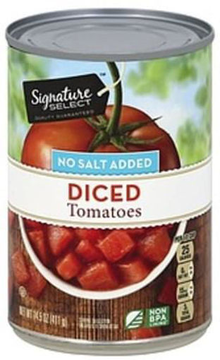 Picture of Signature SELECT Tomatoes Diced No Salt Added