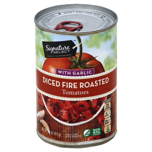 Picture of Signature SELECT Tomatoes Fire Roasted with Garlic Diced