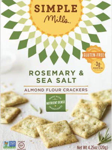 Picture of Simple Mills Crackers Almond Flour Rosemary & Sea Salt
