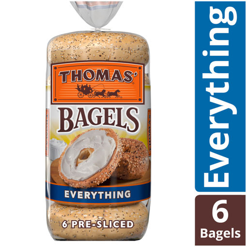 Picture of Thomas Bagels Everything Pre Sliced 6 Count