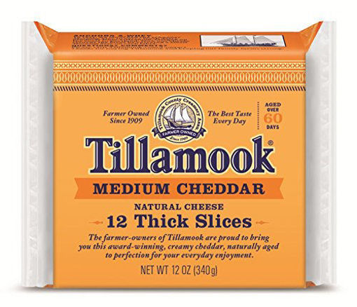 Picture of Tillamook Medium Cheddar Cheese Slices