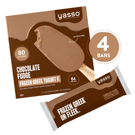 Picture of Yasso Frozen Yogurt Greek Bars Chocolate Fudge