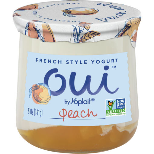 Picture of Yoplait Oui Yogurt French Style Peach