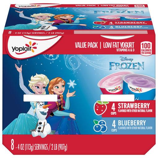 Picture of Yoplait Yogurt Low Fat Disney Frozen Blueberry Strawberry Value Pack