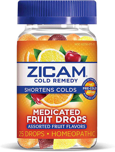 Picture of Zicam Cold Remedy Medicated Fruit Drops Assorted Fruit Flavor