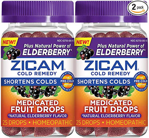 Picture of Zicam Cold Remedy Plus Elderberry Medicated Fruit Drops Mixed Berry