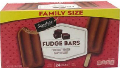 Picture of Signature SELECT Frozen Dairy Dessert Chocolaty Fudge Bars