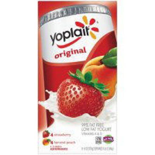 Picture of Yoplait Original Yogurt Low Fat Strawberry & Harvest Peach