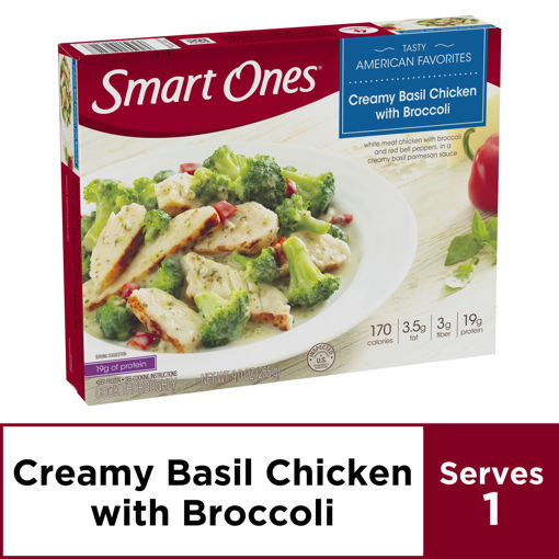 Picture of weightwatchers Smart Ones Tasty American Favorites Creamy Basil Chicken with Broccoli