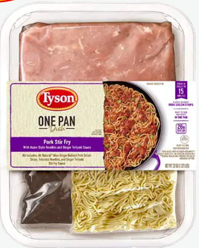 Picture of Tyson One Pan Dish Pork Stir Fry W/Asian Noodles Teriyaki