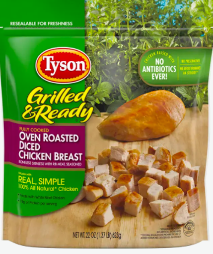 Picture of Tyson Grilled & Ready Fully Cooked Oven Roasted Diced Chicken Breast