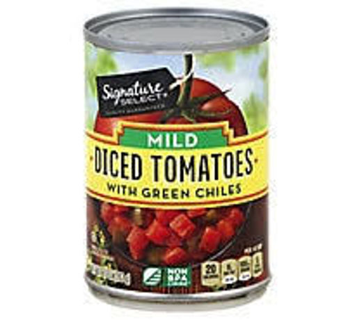 Picture of Signature SELECT Tomatoes Diced With Green Chiles Mild