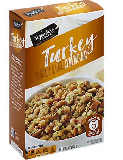 Picture of Signature SELECT Stuffing Mix Turkey Flavored Box