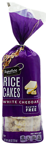 Picture of Signature SELECT Rice Cakes Cheddar White
