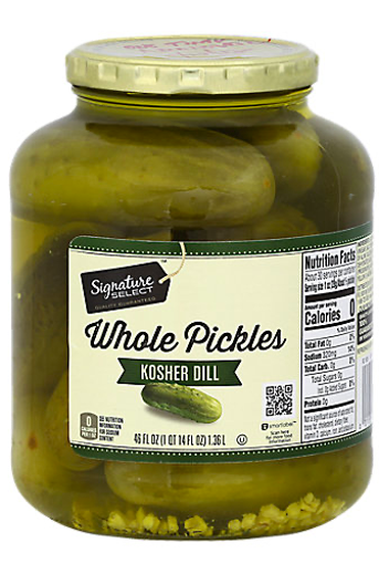 Picture of Signature SELECT Pickles Whole Genuine Dill Jar