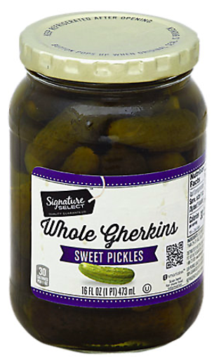 Picture of Signature SELECT Pickles Sweet Whole Gherkins