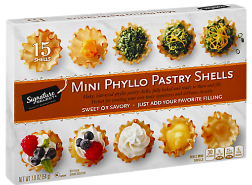 Picture of Signature SELECT Pastry Shells Mini Phyllo 15 Count