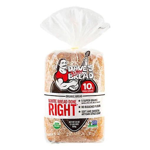 Picture of Daves Killer Bread Organic White Bread Done Right - 24 Oz