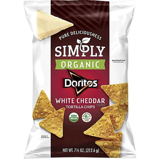 Picture of Doritos Simply Organic Tortilla Chips White Cheddar - 7.5 Oz