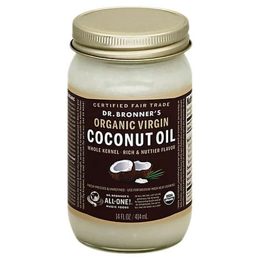 Picture of Dr. Bronners Coconut Oil Organic Virgin - 14 Fl. Oz.