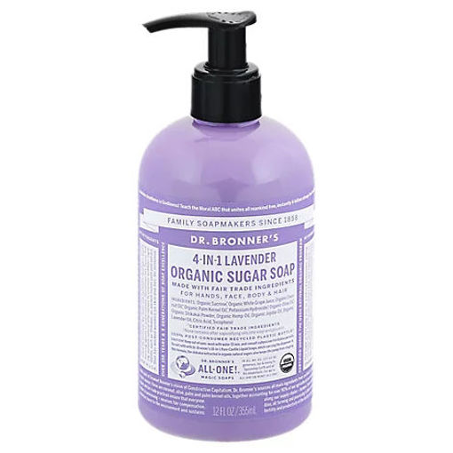 Picture of Dr. Bronners Organic Sugar Soap Lavender, 12 Oz - 12 Oz