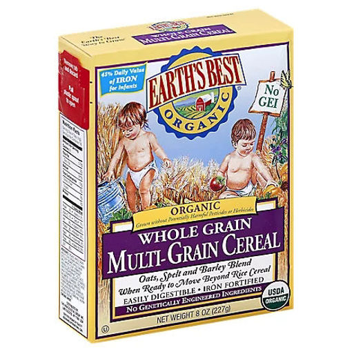 Picture of Earths Best Organic Whole Grain Multi Grain Cereal - 8 Oz