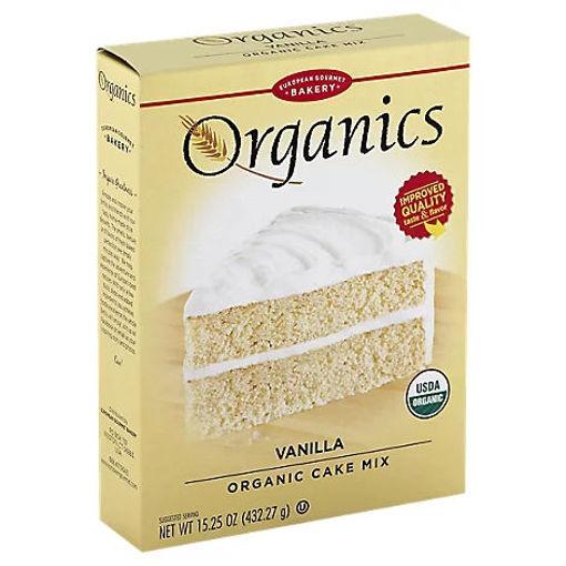 Picture of European Gourmet Bakery Organics Cake Mix Vanilla - 15.25 Oz