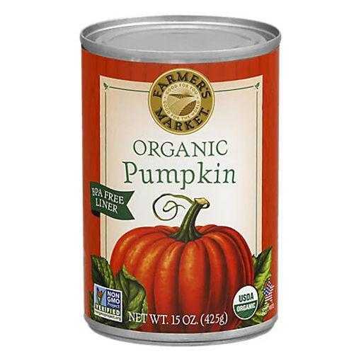 Picture of Farmers Market Organic Puree Pumpkin - 15 Oz