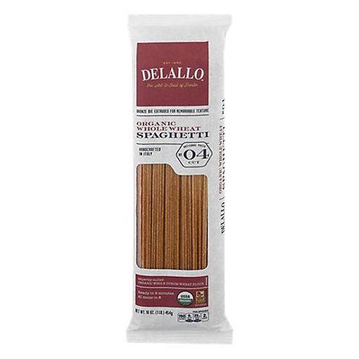 Picture of DeLallo Pasta Organic 100% Whole Wheat No. 4 Spaghetti Pack - 16 Oz