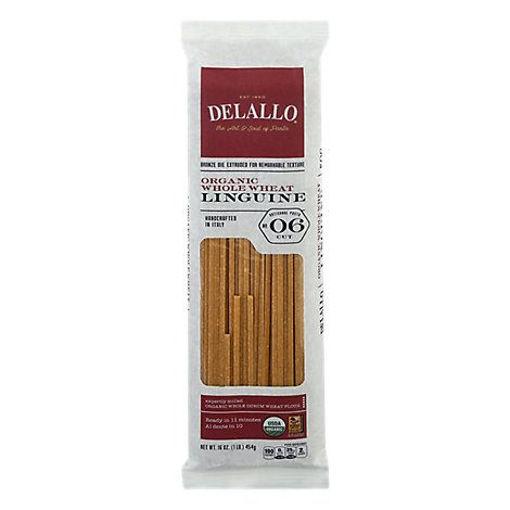 Picture of DeLallo Pasta Organic 100% Whole Wheat No. 6 Linguine Pack - 16 Oz