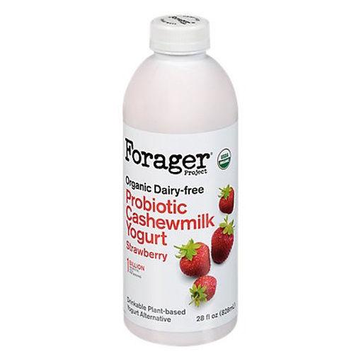 Picture of Forager Project Organic Yogurt Alternative Drinkable Cashewmilk Dairy Free Strawberry - 28 Fl. Oz.