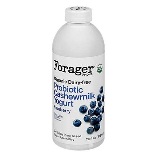 Picture of Forager Project Organic Yogurt Alternative Drinkable Cashewmilk Dairy Free Blueberry - 28 Fl. Oz.