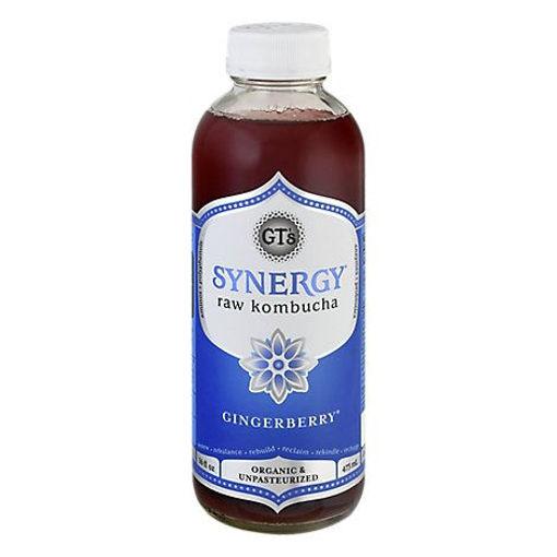 Picture of GTs Enlightened Synergy Organic Kombucha Gingerberry - 16.2 Fl. Oz.