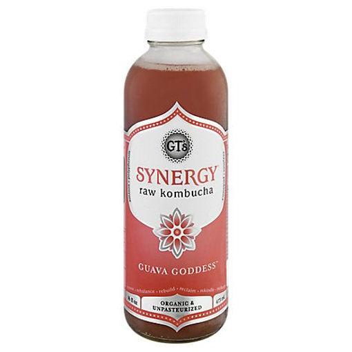 Picture of GTs Enlightened Synergy Organic Kombucha Guava Goddess - 16.2 Fl. Oz.