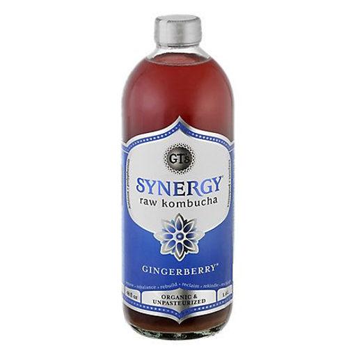 Picture of GTs Kombucha Juice Organic & Raw Gingerberry - 48 Fl. Oz.
