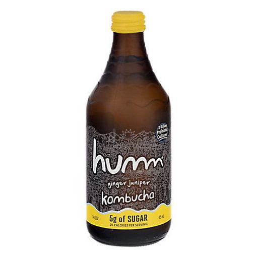 Picture of Humm Kombucha Organic Ginger Juniper - 14 Fl. Oz.