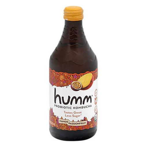 Picture of Humm Kombucha Organic Mango Passionfruit - 14 Fl. Oz.