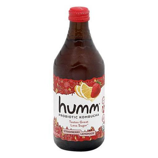 Picture of Humm Kombucha Organic Strawberry Lemonade - 14 Fl. Oz.