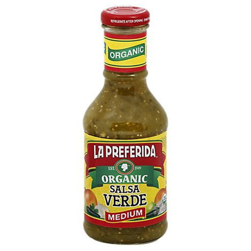 Picture of La Preferida Organic Salsa Verde Medium - 16 Oz