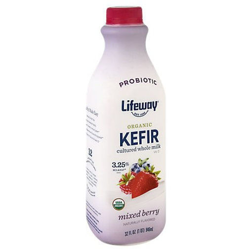 Picture of Lifeway Organic Kefir Cultured Milk Whole Mixed Berry - 32 Oz