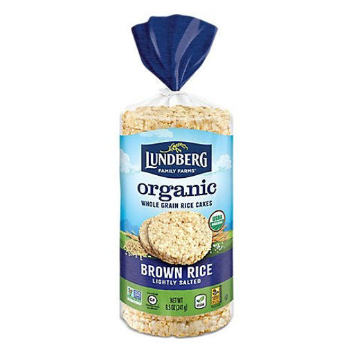 Picture of Lundberg Rice Cakes Organic Brown Rice Lightly Salted - 8.5 Oz