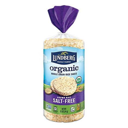 Picture of Lundberg Rice Cakes Organic Brown Rice Salt-Free - 8.5 Oz