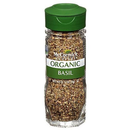 Picture of McCormick Gourmet Organic Basil Leaves - 0.55 Oz