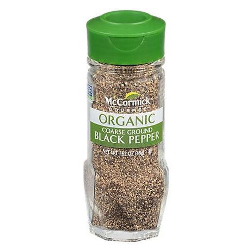 Picture of McCormick Gourmet Organic Black Pepper Coarse Grind - 1.62 Oz