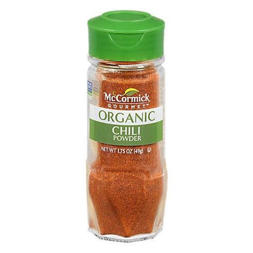 Picture of McCormick Gourmet Organic Chili Powder - 1.75 Oz