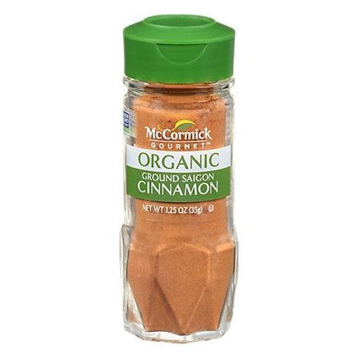 Picture of McCormick Gourmet Organic Cinnamon Saigon Ground - 1.25 Oz